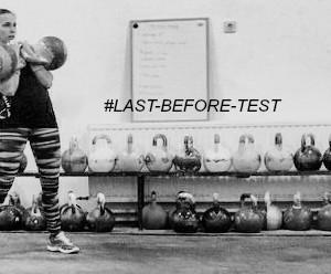 Last before test
